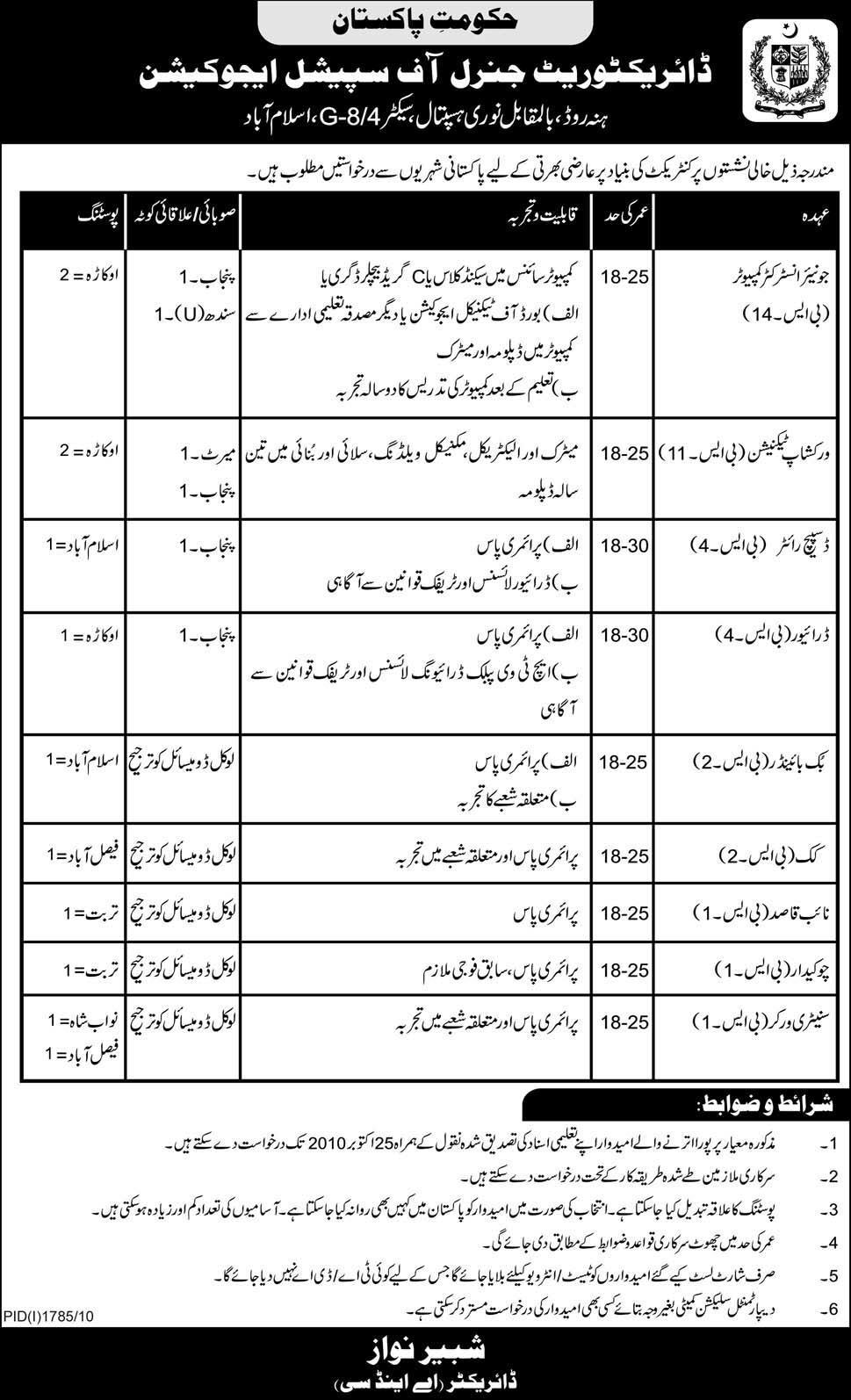 Special Education Department Pakistan Jobs | PaperPk Blog