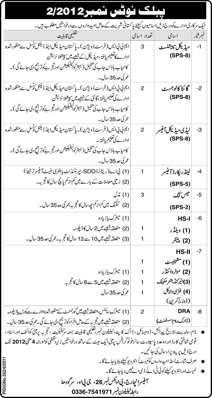 1101509230 1 Jobs in GPO Sargodha