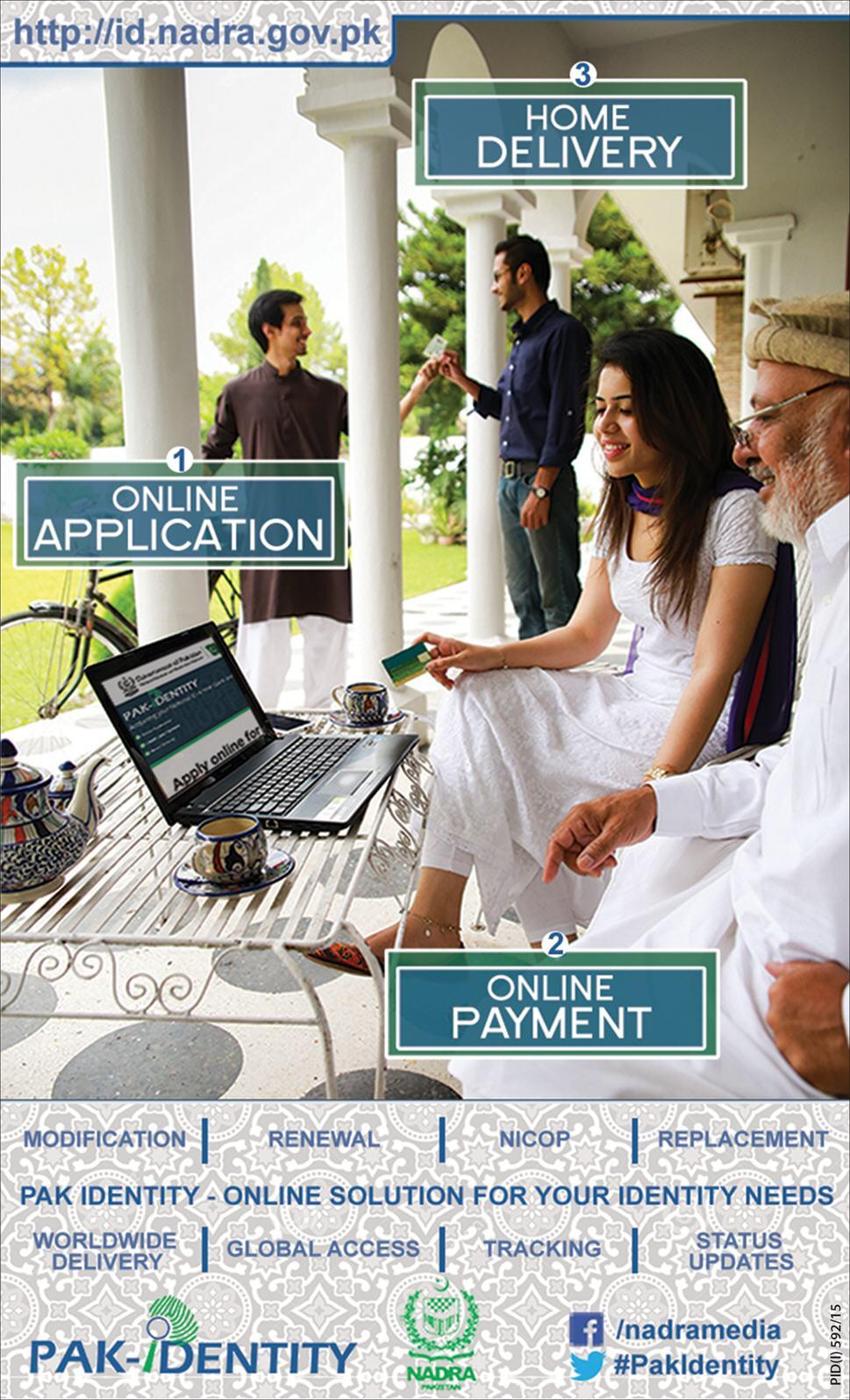 NADRA Launchs online system for the renewal of ID cards